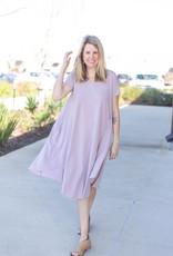Short Sleeve Full Swing Shift Dress