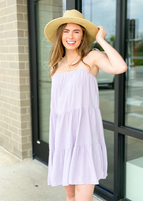 Layered Dress with Tie Shoulder