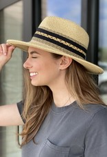 Panama Hat with Woven Aztec Band