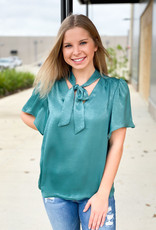 Silky Tie-Neck Blouse