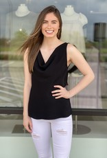 Cowl Neck Solid Tank