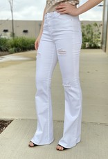Distressed Flare Jeans