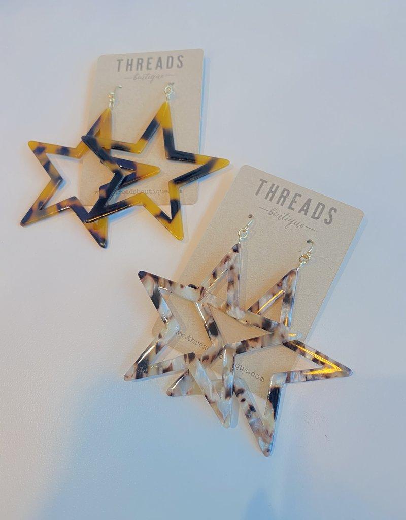 Acrylic Star Earring