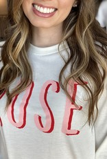 Rose Graphic Pullover