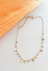 Multi Circle gold Necklace
