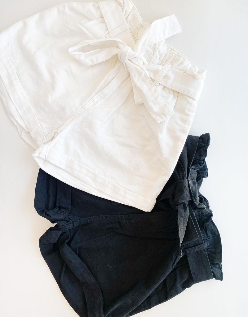Elastic Waist Paperbag Shorts