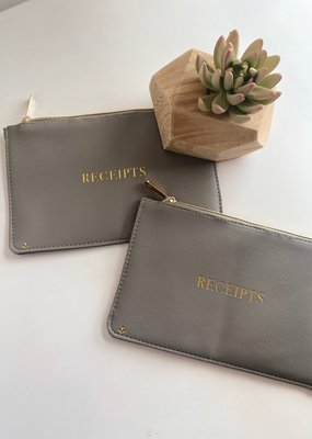 Vegan Leather Graphic Zip Pouch