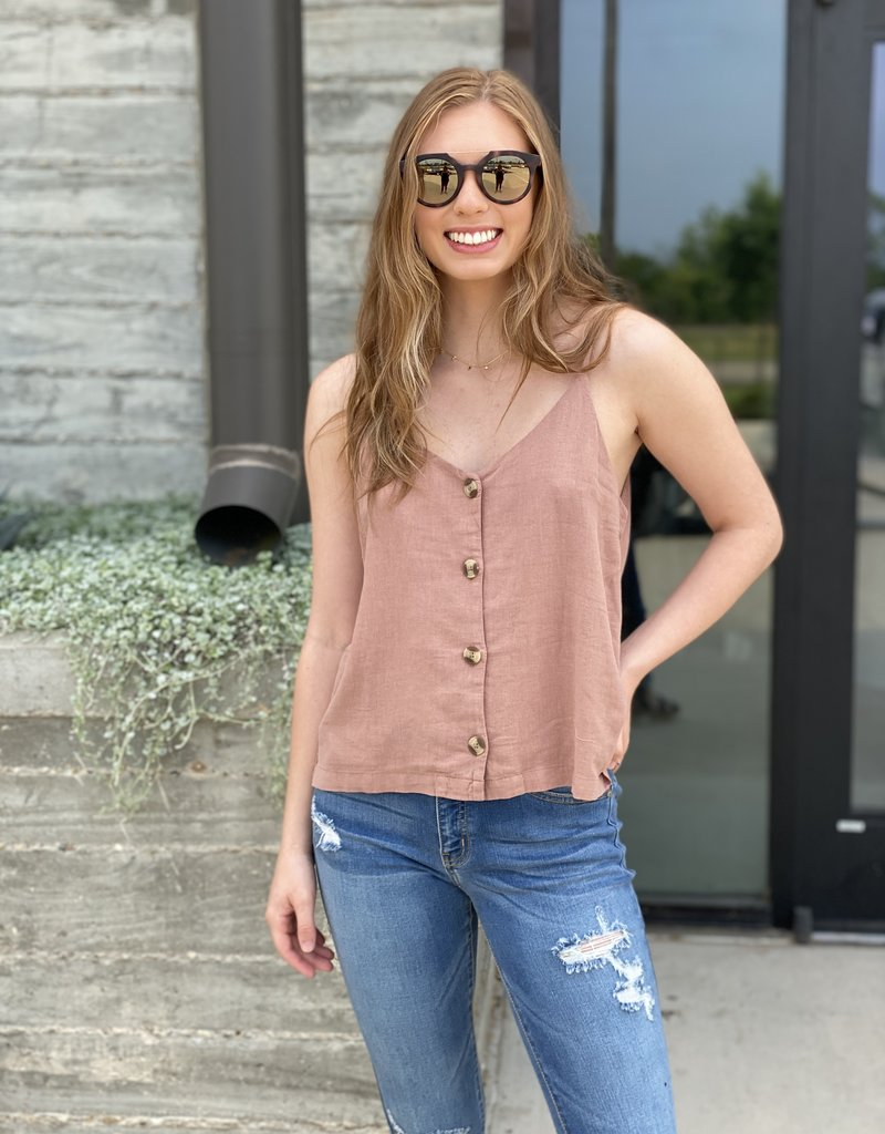 Button Up Crop Tank