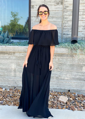 Off The Shoulder Chiffon Maxi