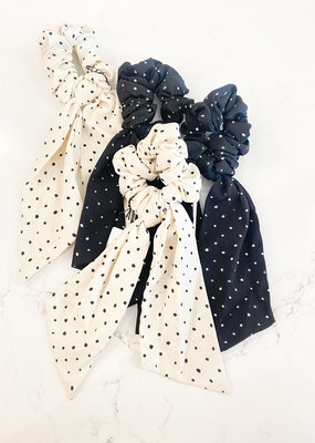 Polka Dot Mini Long Scrunchie