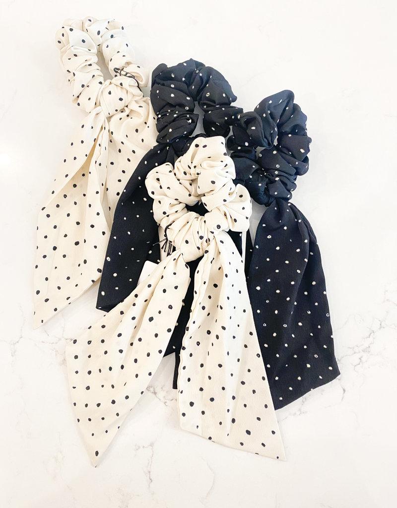 Polka Dot Mini Long Scrunchie