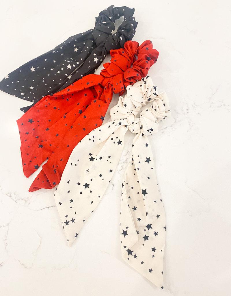 Star Printed Long Scrunchie