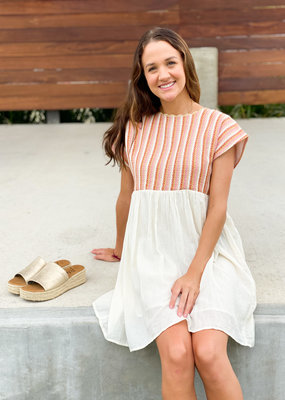 Embroidered Top Babydoll Dress