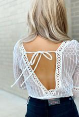 Deep Crochet Open Back Bodysuit
