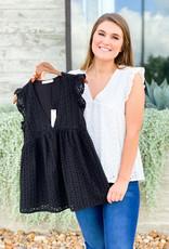 Crochet Lace Babydoll Tank