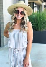 Striped Tube Midi Dress