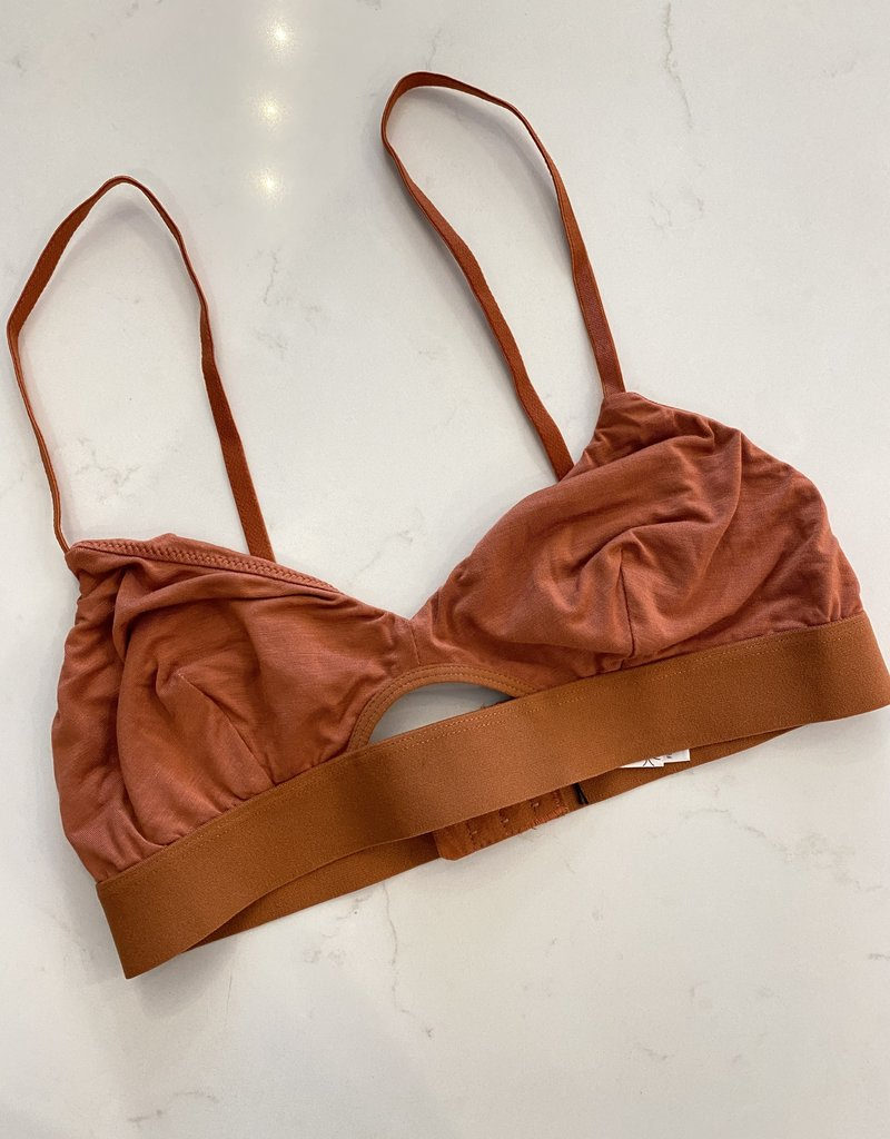 Soft Bralette with Front Keyhole