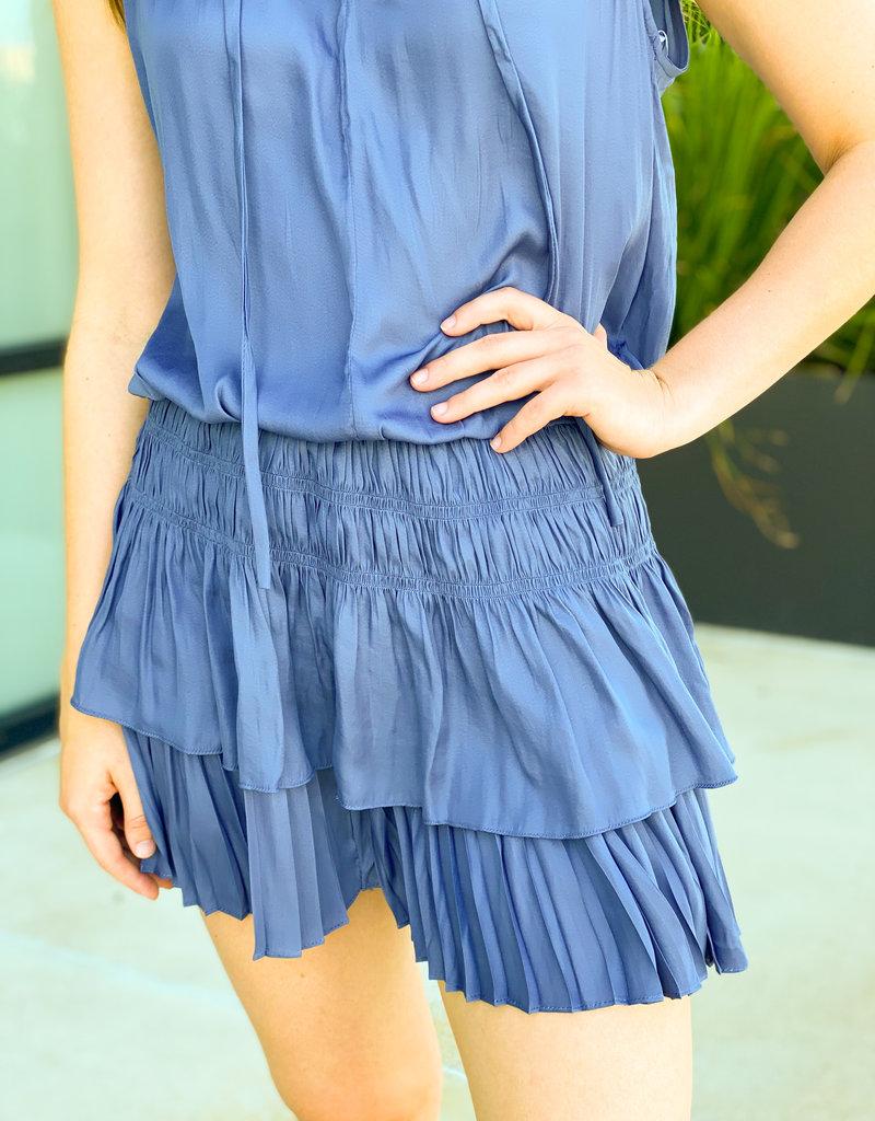 Smocking Sleeveless Mini Dress