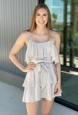 Ruffle Cold Shoulder Dress