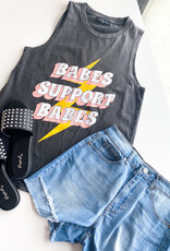Babes Support Babes Washed Muscle Tee