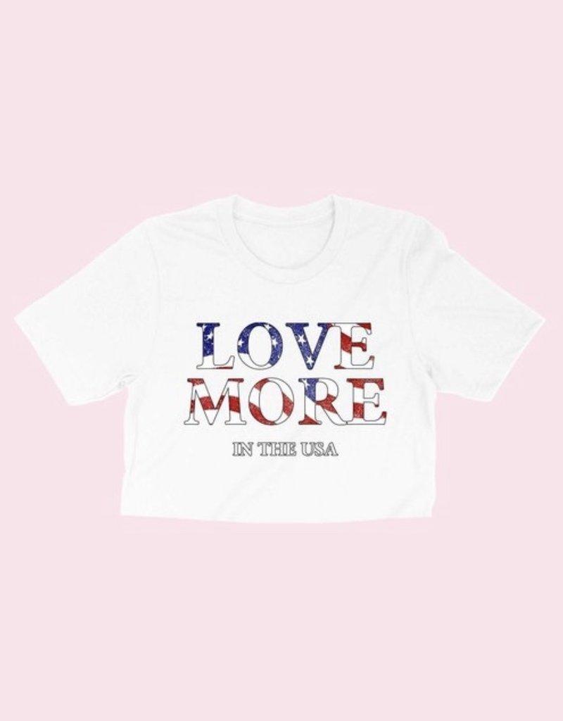 Love More USA Crop Tee