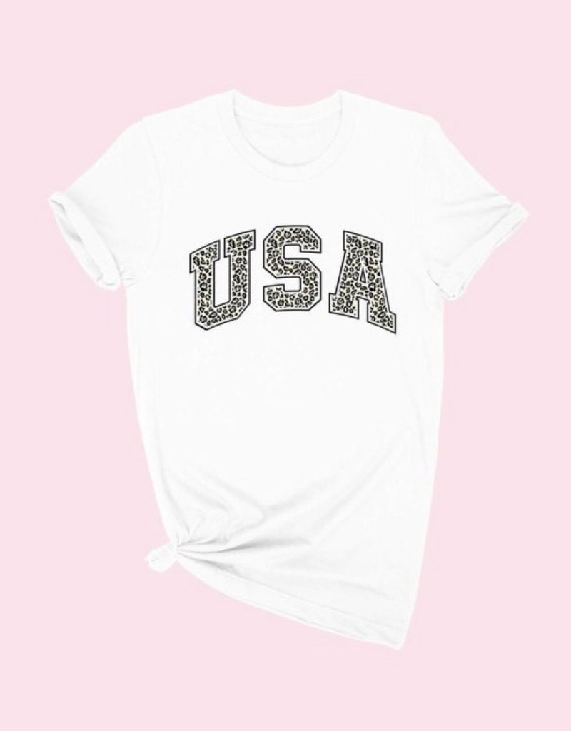 Leopard USA Graphic Tee