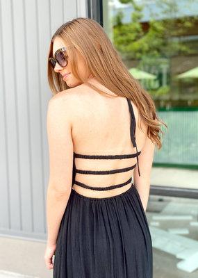 Open Back Ruffle Layered Maxi Dress