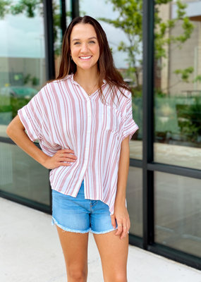 Button Up Extended Sleeve Blouse