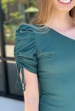 One Shoulder Scrunch Bottom Dress