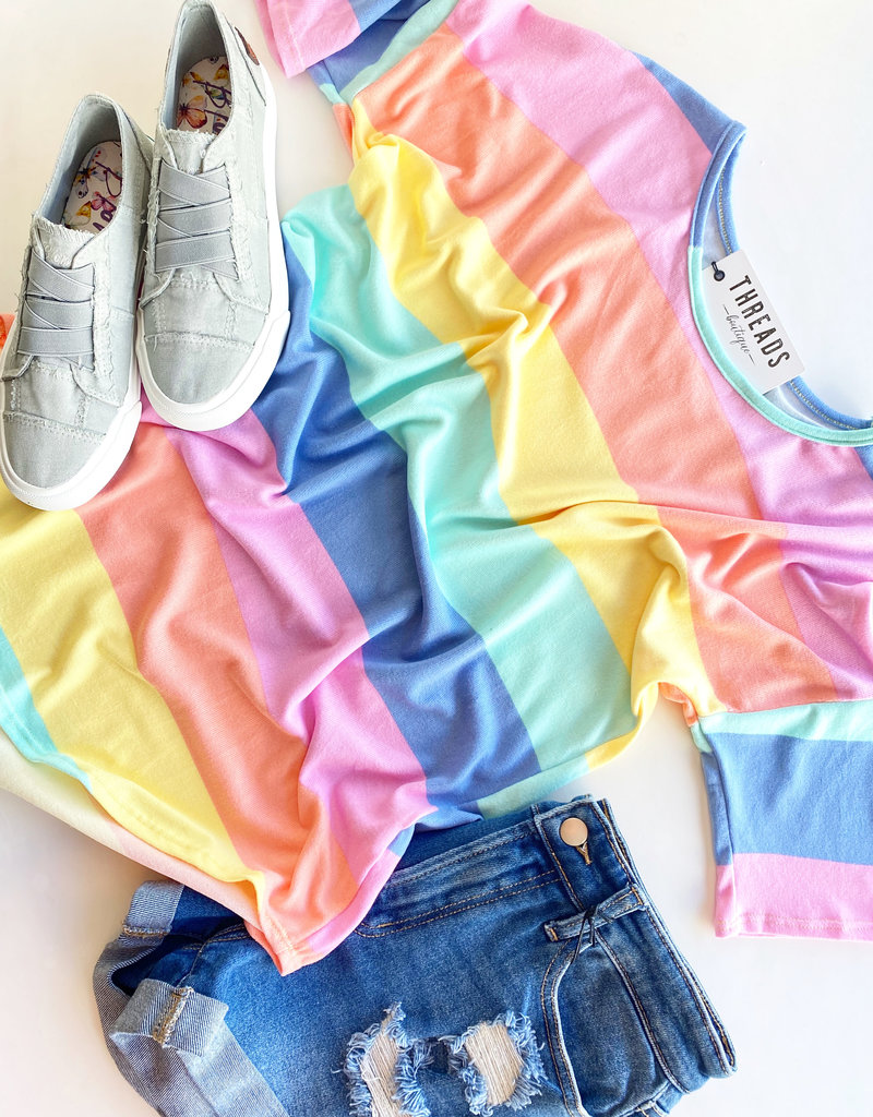 Striped Rainbow Soft Tee