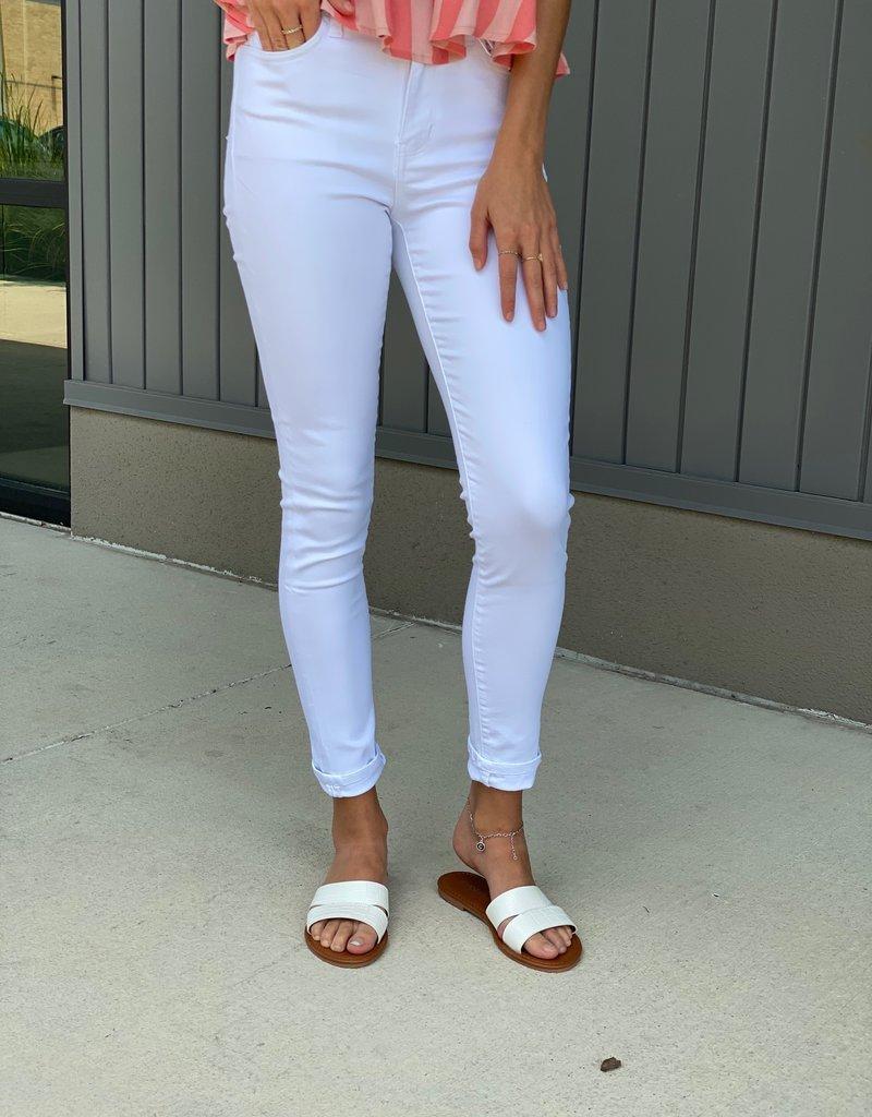 High Rise White Skinny Jeans
