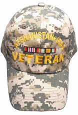 MidMil Afghanistan Iraq Veteran Hat with Ribbons ACU