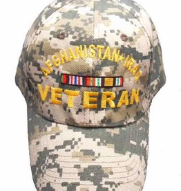 Afghanistan Iraq Veteran Hat with Ribbons ACU