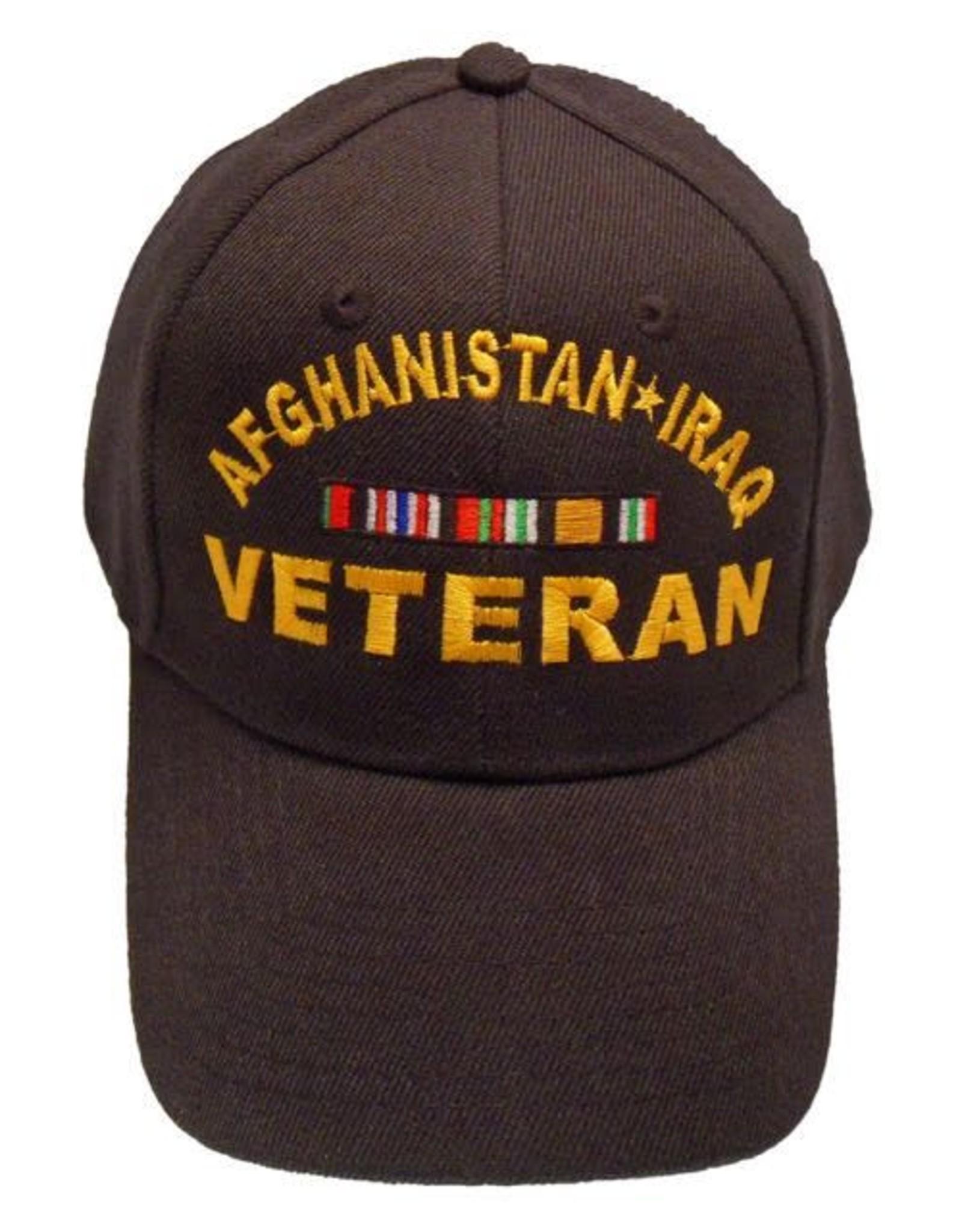 MidMil Afghanistan-Iraq Veteran Hat with Ribbons Black