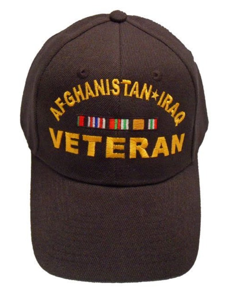 MidMil Afghanistan-Iraq Veteran Hat with Ribbons Black