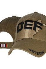 MidMil Afghanistan Veteran OEF Hat on Country Coyote  Brown