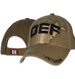 Afghanistan Veteran OEF Hat on Country Coyote  Brown