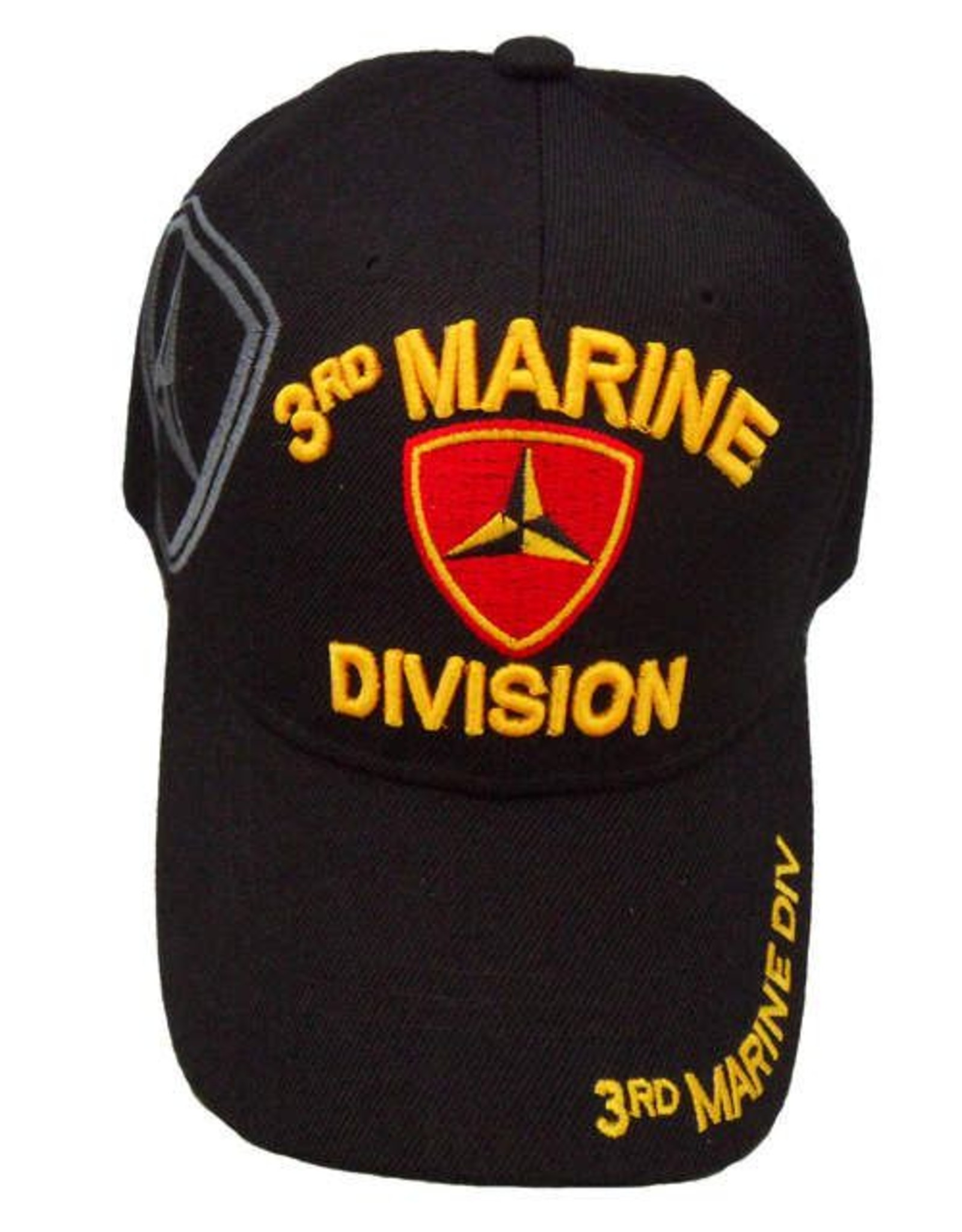 MidMil 3rd Marine Division Hat with Shadow emblem Black