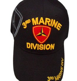 3rd Marine Division Hat with Shadow emblem Black