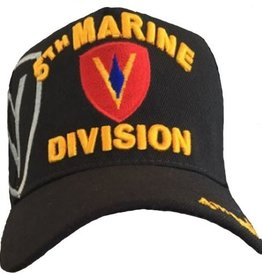 MidMil 5th Marine Division Hat with Shadow Black