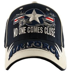 "Air Force Hat with ""No One Comes Close"" and emblem Dark Blue"