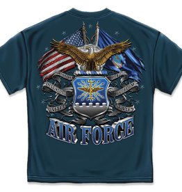 MidMil Air Force Flags T-Shirt Black