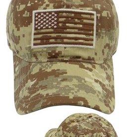 MidMil Subdued American Flag Hat Desert Digital Camouflage