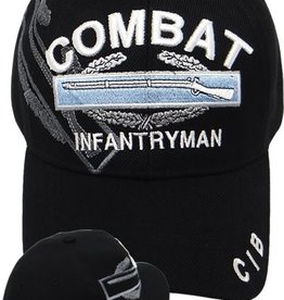 Army Combat Infantryman Hat with Combat Infantry Badge Shadow Black