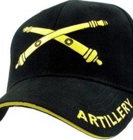 Army Artillery Hat with Emblem Black