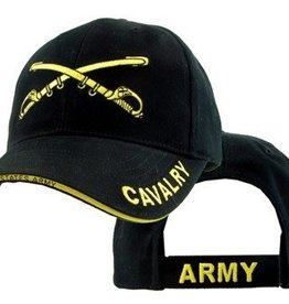 Army Cavalry Hat with  Emblem Black