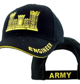 MidMil Army Corps of Engineers Hat with Emblem Black