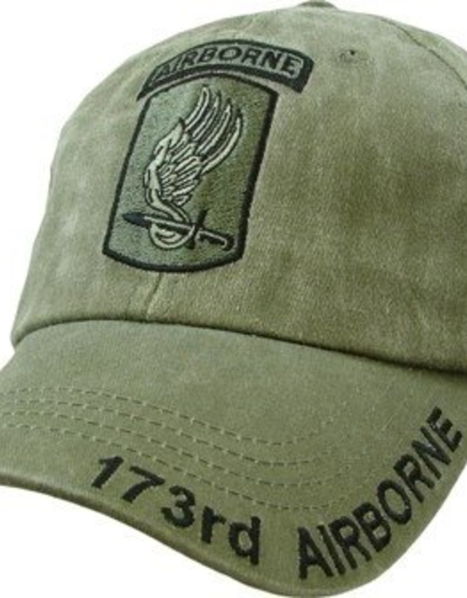 MidMil Army173rd Airborne Hat with Subdued Emblem Olive Drab
