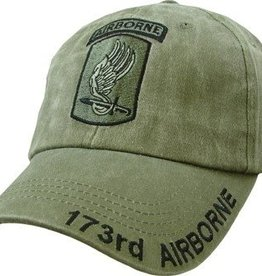 Army173rd Airborne Hat with Subdued Emblem Olive Drab