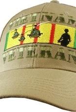 MidMil Vietnam Veteran Hat with Incoming Choppers on Ribbon Khaki